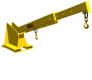 2 Ton Pivoting Boom Lift - Wide Fork Model